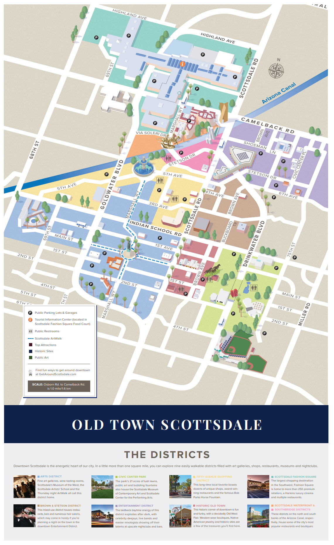 Old Town Area Map Old Town Scottsdale