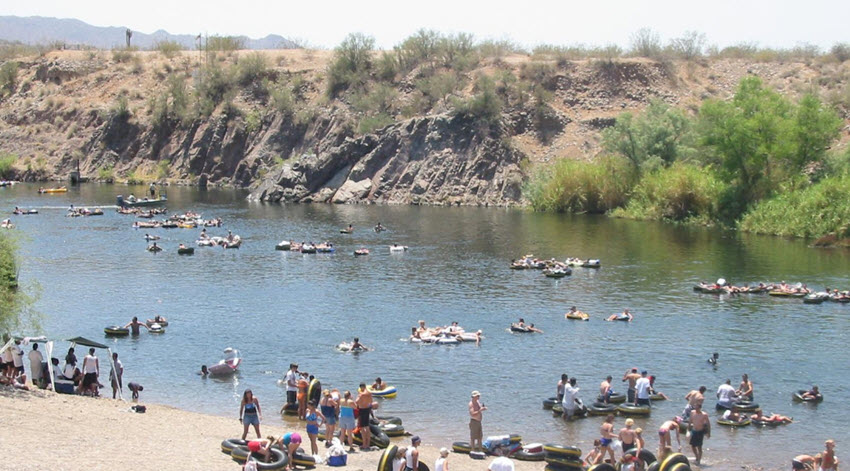 Day Trip From Scottsdale Go Tubing On The Salt River